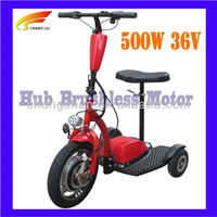500W 3 wheels scooter stand up electric scooter with CE