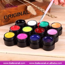 High Quality Colourful Nail Polish Carving Pattern Gel with Private Label