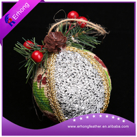 cotton snow Santa linen hanging ball decoration
