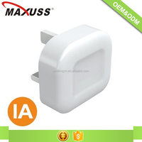 C205 UK Plug ABS material 5v 1A travel USB charger adapter for mobile phone