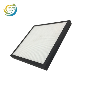Dust made with hepa media sheet electrostatic air filter washable fabric
