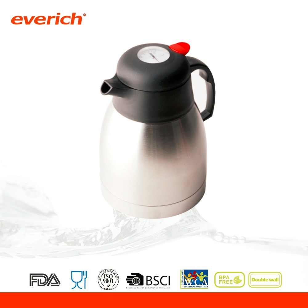 Large capacity stainless steel thermal tea coffee pot