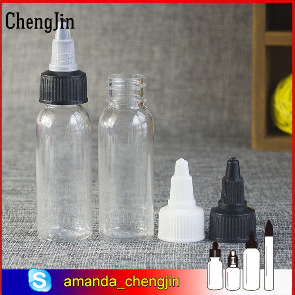 China supplier 30ml 60ml 100ml 120ml 250ml PET bottle with twist cap squeeze for e liquid in stock
