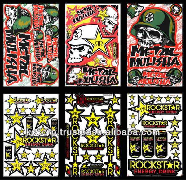 Custom Rock Start Energy drink Graphic Kit decal stickers