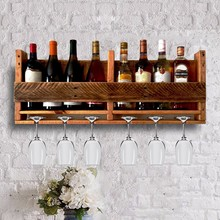 popular wooden wall mounted wine rack for home furnishing decorate