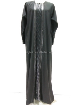 Black Abaya Muslim Dress Long Elegant Robes Factory Direct Sale