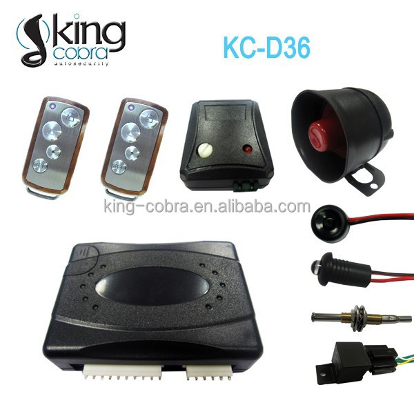 One way remote car alarm with ultrasonic sensor, for European markets