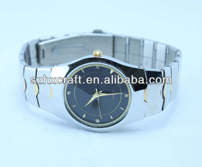 2013 top brand mens watches with customer logo 3 hands at good price