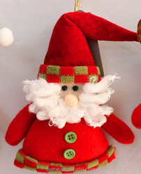 christmas promotional gift 2016 plush stuffed snowman christmas decoration toys christmas tree hanging santa toys