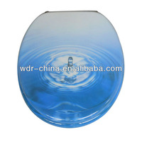 Bathroom resin sea shell toilet seat cover