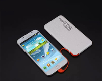 Unique design universal portable built in cable power bank 4000mah