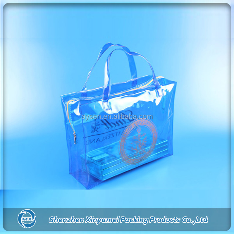 waterproof zippered pvc storage bags with handle