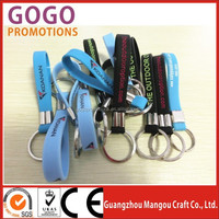 custom silicone keyring, silicone keychain, rubber keyring with different colorful bands in cheap price and fast shipment