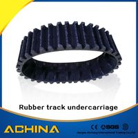 Rubber track undercarriage construction machinery spare parts from china supplier