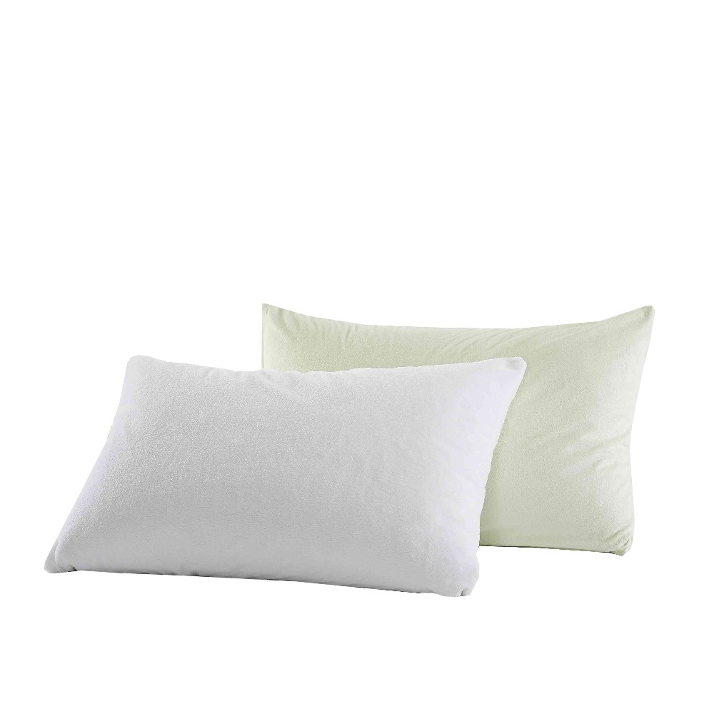 Waterproof Terry Cloth Queen Size Cotton Zippered Fancy White Pillow Case