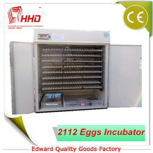 Holding 2112 Eggs CE Approved Automatic Chicken Egg Machines Hatching Eggs For Sale/reptile products/hatchery machine