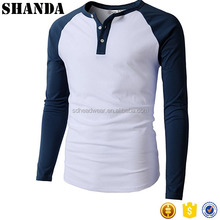 Men style Custom logo mass production thin tight fit long sleeve t shirts