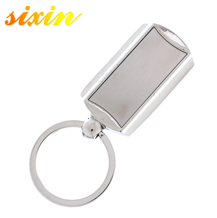 Zinc Alloy Silver Plating Blank Metal Keychain <strong>keying</strong>