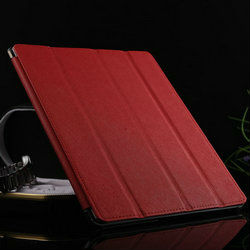 stand leather cooling case for ipad, for ipad 2 smart cover