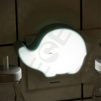 elephant shape light and sound sensor control night light for kids