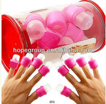 New Pink Useful Nail Soaker Acrylic UV Gel Polish Remover Soak Tool Removal