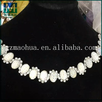 CC062 Factory wholesale acrylic fashion crystal trims rhinestone chain,shiny golden base beaded chain for wedding dress