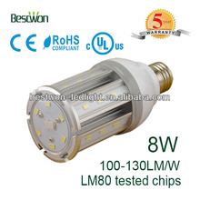 8w E27 LED SMD corn bulb with Energy star and Patent pending
