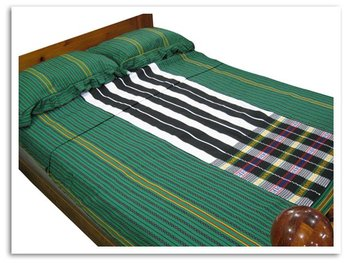 Handwoven Cool Mint Green Bed Cover
