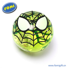 Cheaper wholesale cool spider bounce ball glitter lighting bouncing ball for kids toys