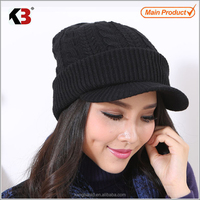 2016 Winter Fashion New Style Cool Fashion Beanie Hats / Ski Knit Hat with brim