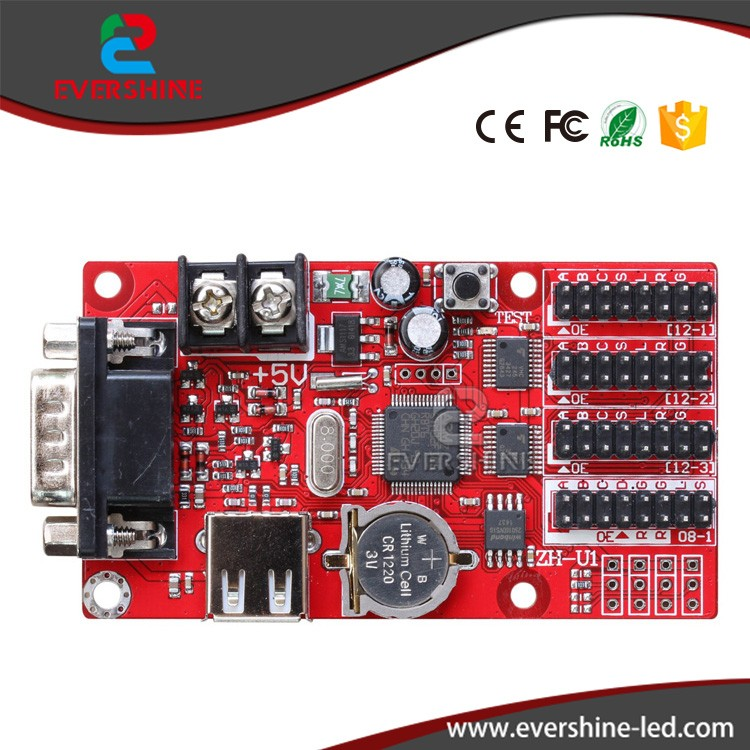 ZH-<strong>U1</strong> LED controller card serial + USB port LED Control Card 32x1024 PIXEL for p10 single led sign board