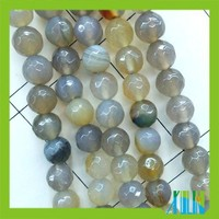 Hot sale agate 128- cut grey color semi precious strand beads