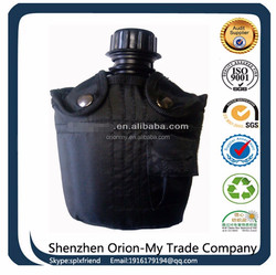 Black Military water bottle for army or worker,military canteen manufacturer factory