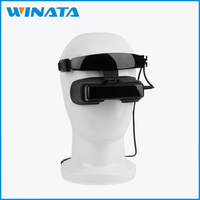 84Inch Virtual Reality Screen 1800mA Battery Real 3D Effect FPV Goggles 3D Video Glasses