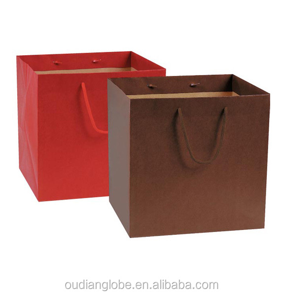 OEM Custom Printed Logo Christmas Paper Packaging Bags
