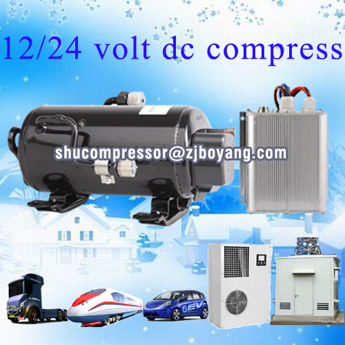 BLDC compressor 1HP auto air conditioning system compressor type battery operated freezer unit for small trailer or van