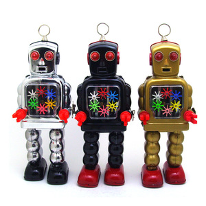 Collection HighI Wheel Robot Wind Up Tin Toy Special Gift