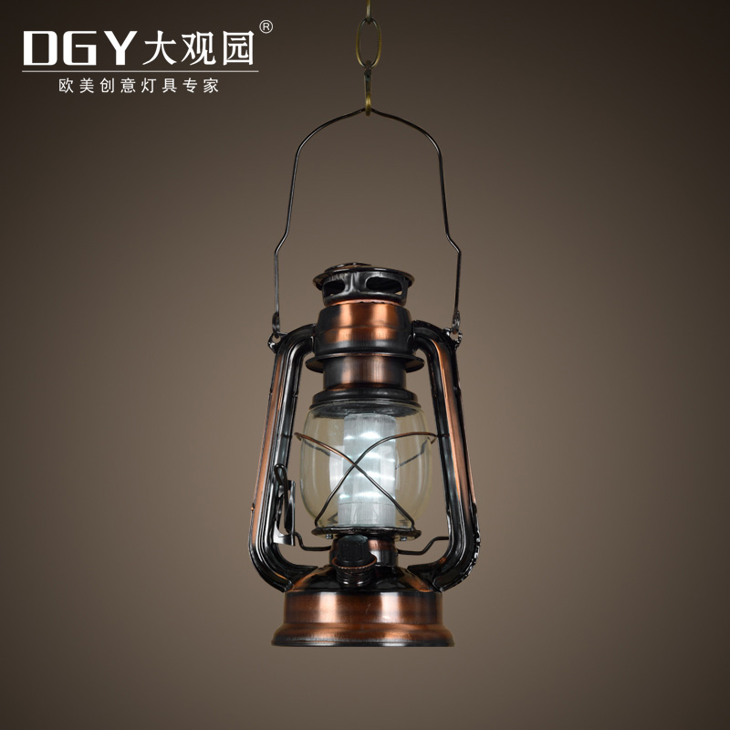 Decorative glass kerosene lamp vintage led kerosene table lamps chandeliers