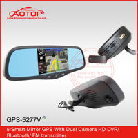 "Wholesale 5"" Car GPS Navigator Bluetooth Rear View Mirror AV+4GB+New3D Map+mp3MP4+OS WindowCE6.0"