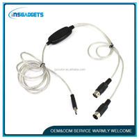 Micro usb flip cable ,H0T335 mini usb microphone cable , usb to round connector cable