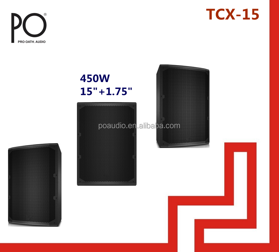 po audio 450w tcx-15 turbosound 15 inch speaker