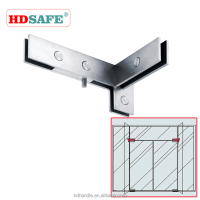 Pivot patch fittings for right side swing door, stainless steel glass door patch fitting