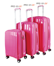 2015 New Design High Quality eight double wheels PP Luggage with factory price from zhejiang china