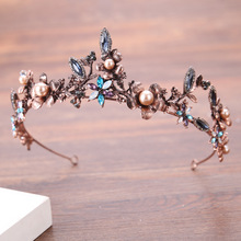 The new 2017 bride headdress Colors ancient baroque diamond crown for sale
