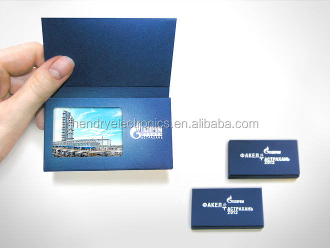 Business Card Size Lcd Video Greeting Card lcd Video