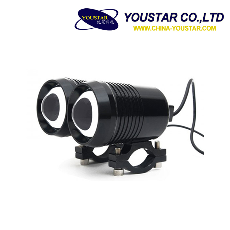 China motorbike accessories 15W led spot light 12v led motorcycle headlight
