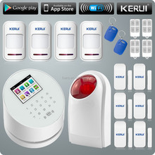 KERUI WIFI alarm system PSTN/GSM wireless burglar alarm system Russian /English