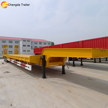 China Detachable 20ft Tri-axle Gooseneck Horse Livestock Low Bed Semi Trailer For Sale