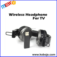 Wireless TV& Computer Luxury Black Foldable 3.5mm Connector Headphone