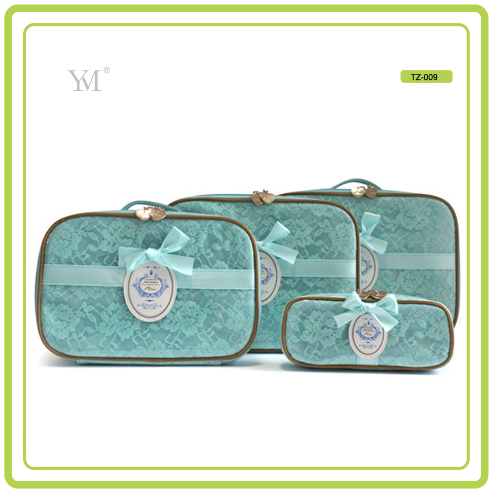 Best Selling OEM new product 2017 romantic mac luxury cosmetic bag sets eco beauty cosmetic bag
